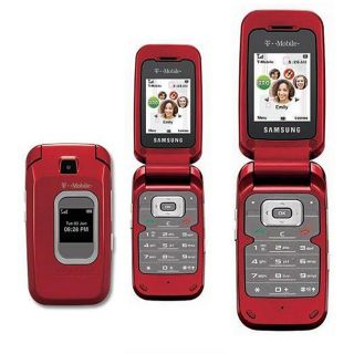 Samsung T229 Red Unlocked GSM Bluetooth Camera Phone
