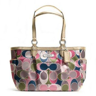 Signature Scarf Print Gallery Tote Handbag 19464 Multicolor Shoes