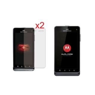Premium Motorola Droid 3 Anti fingerprint Screen Protector (Pack of 2