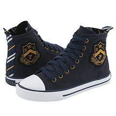 Polo Ralph Lauren Kids Bal Harbour Hi Crest Navy Canvas Shoes
