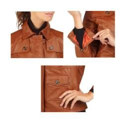 Isaac Mizrahi Live Womens Leather Jacket