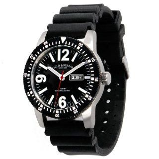 Field & Stream Mens F205GKSK Ocean Angler Black Rubber Strap Watch
