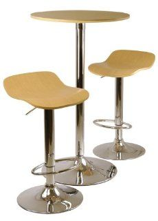 Kallie 3 Piece Pub Table and Stools Set in Natural Home