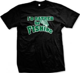 Id Rather Be Fishing Mens T shirt, Hilarious Funny