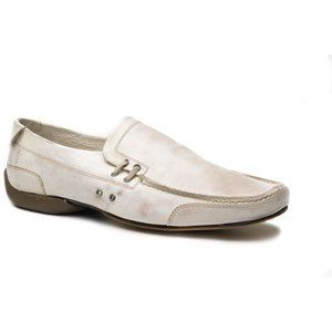 Bacco Bucci Mens Tucker Loafers,White Calf,16 D US Shoes