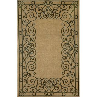 Decorative Border Black Rug (411 x 76)