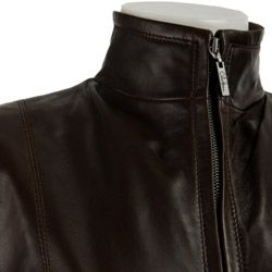 Cole Haan Womens Lamb Leather Jacket