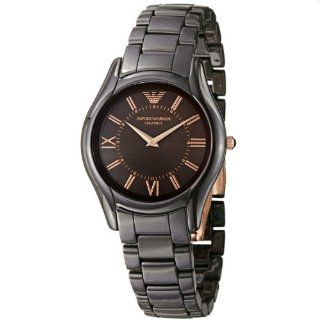 Emporio Armani Womens AR1445 Ceramic Brown Ceramic Bracelet Watch