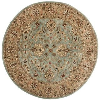 Handmade Persian Legend Blue/ Gold Wool Rug (36 Round)