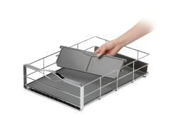 Simplehuman 14 in Pull out Stainless Steel Cabinet Organizer