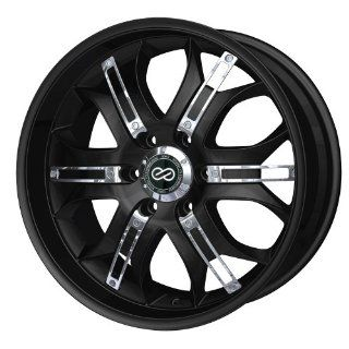 18x8.5 Enkei GRAB6 (Black w/ Chrome Trim) Wheels/Rims 6x139.7 (453 885