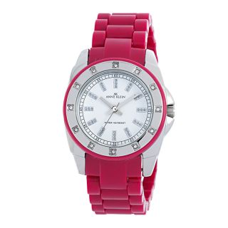 Anne Klein Pink Resin With Crystal Accents Watch